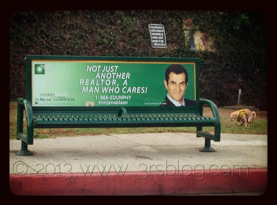 Phil Dunphy/Modern Family bus bench