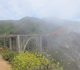 Bixby Bridge misty