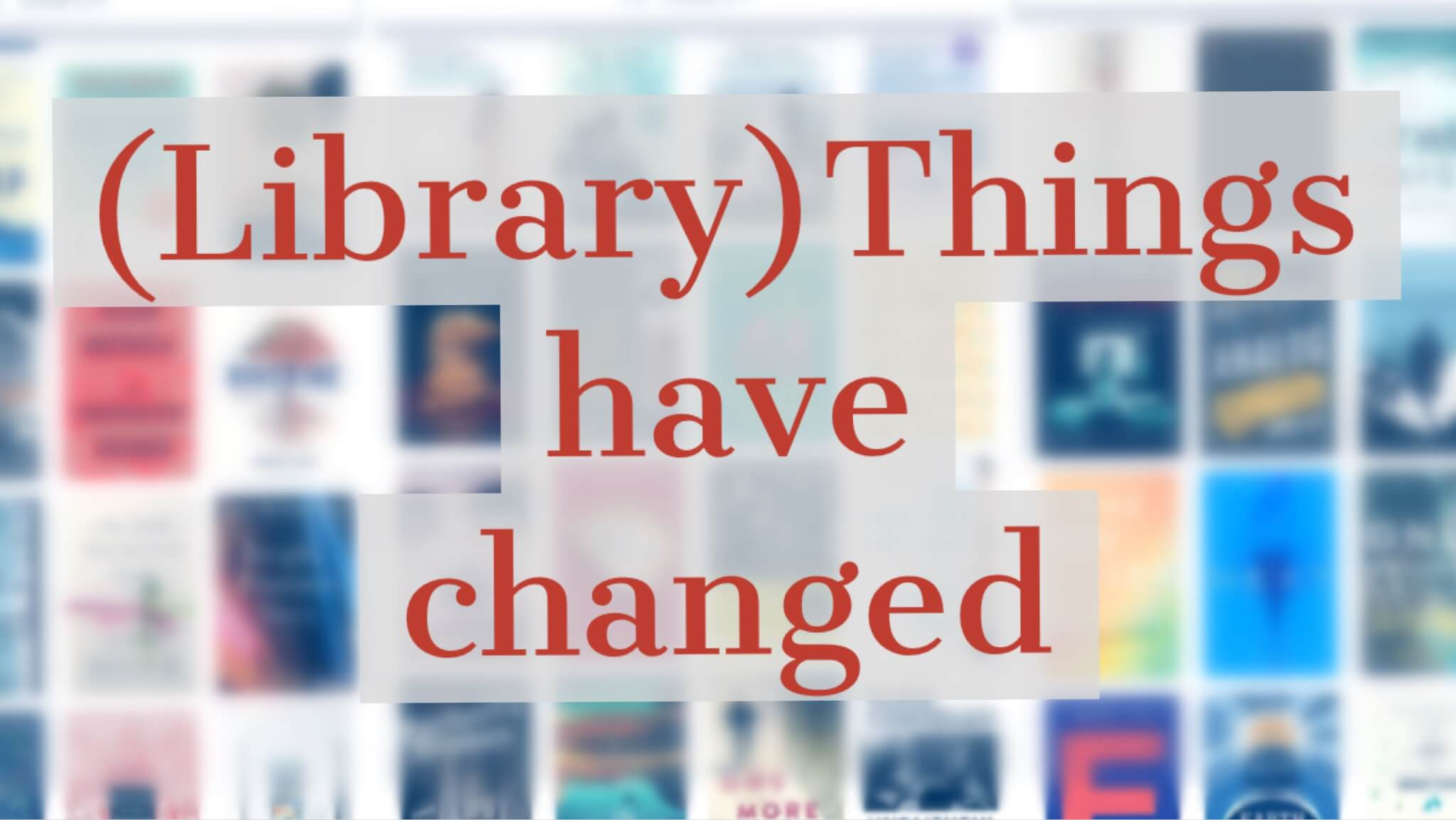 librarything change