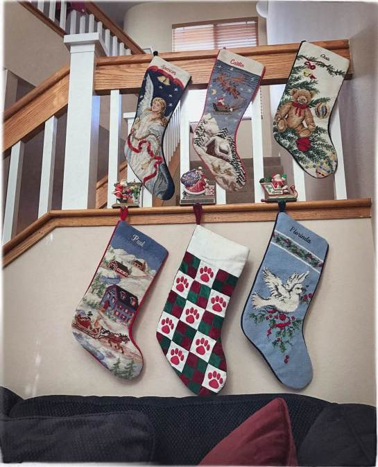 stockings hung by the stairway