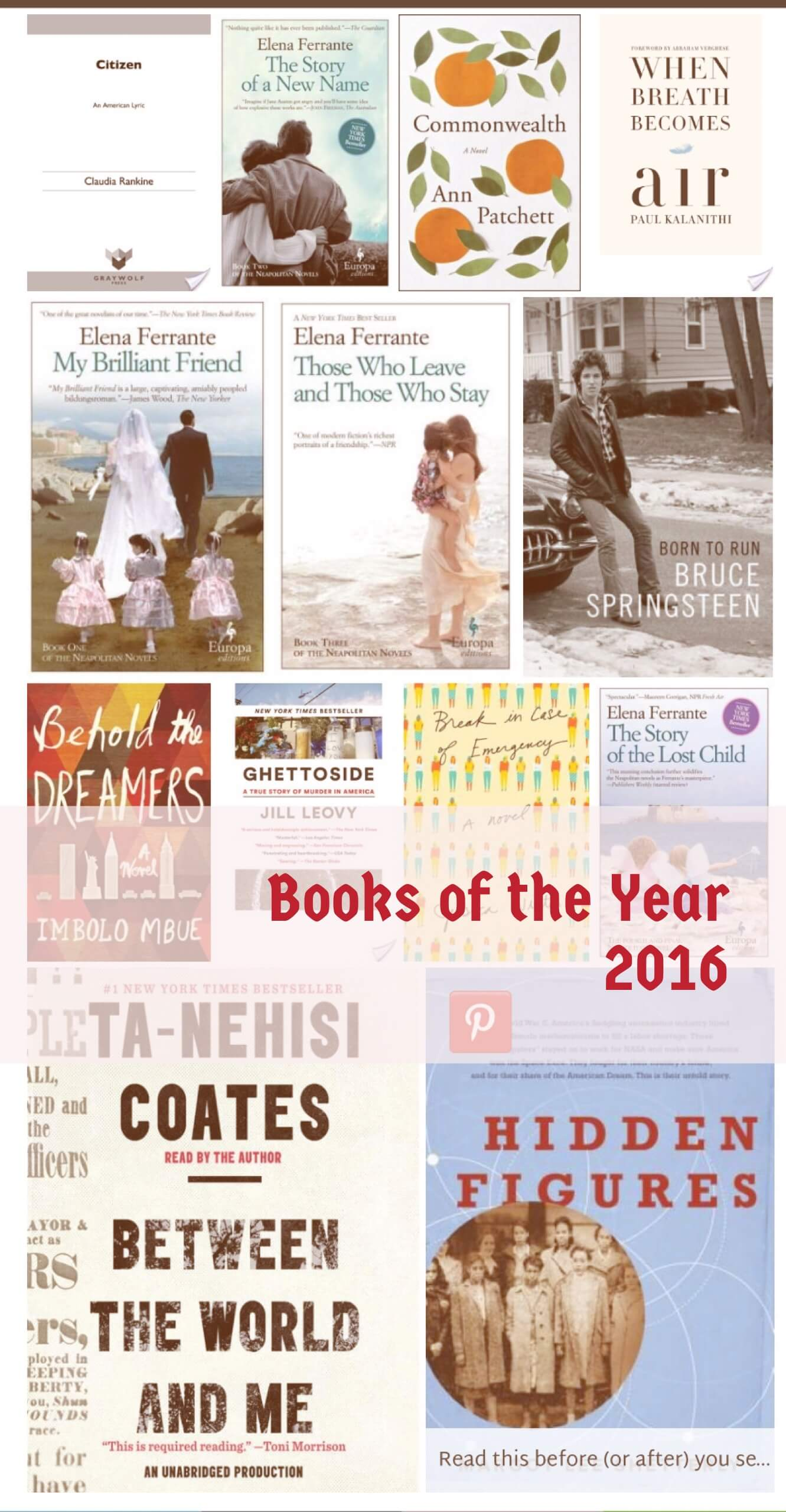 Closing the books on 2016 Books of the Year