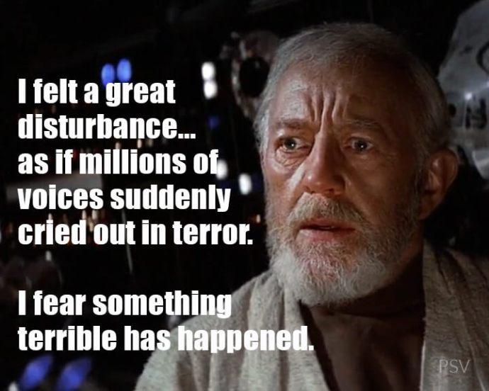 a great disturbance