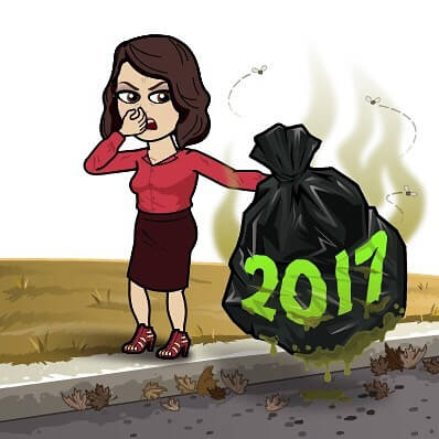 2017 trash bitmoji