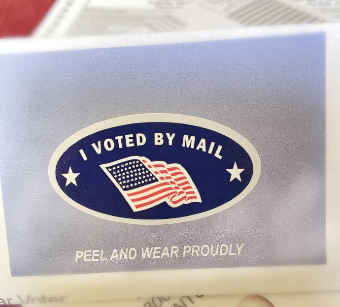 california i voted by mail sticker 2020