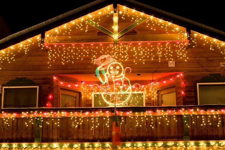 How To Hang Christmas Lights On A Roof Peak Holiday Light Tips Iko