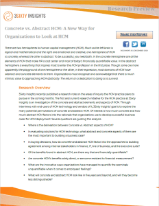 Research Preview - Concrete vs. Abstract HCM A New Way for Organizations to Look at HCM - Thumbnail