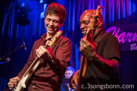 Laurence Jones & Roger Inniss at this years Blues Caravan in Bonn
