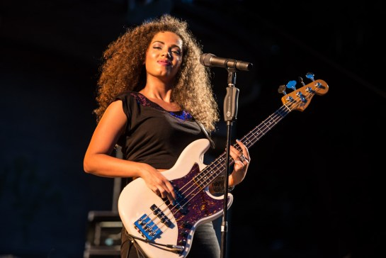 Did I mention she cuts a cool figure on bass too?