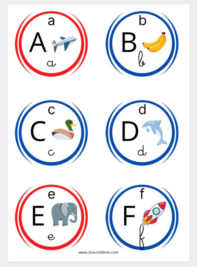 Frise alphabet, frise abécédaire