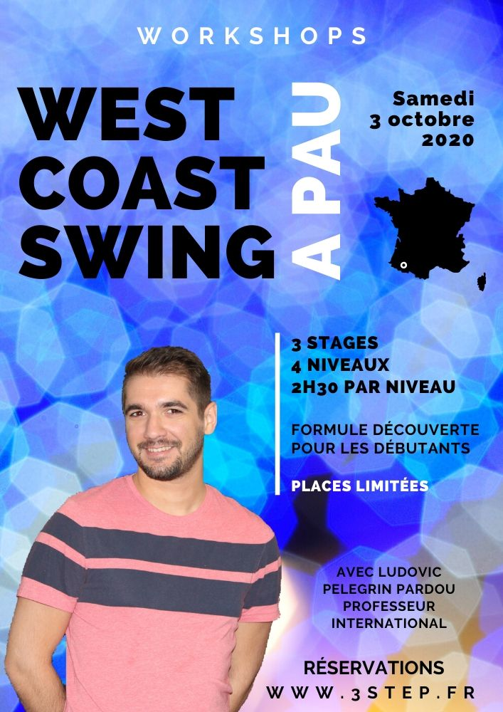 Stage de West Coast Swing a Pau samedi 3 oct 2020