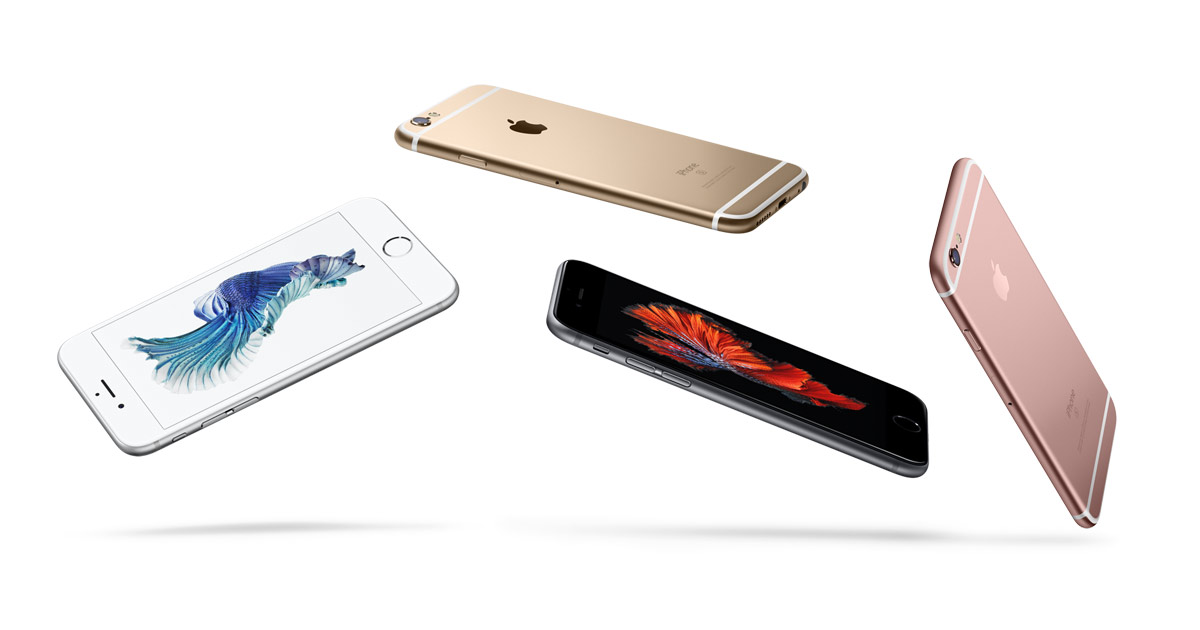 iPhone 6S in diverse colorazioni
