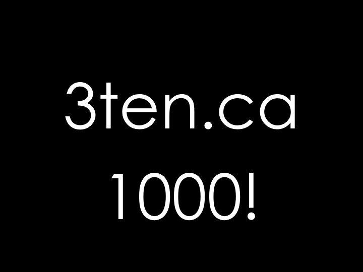 1000 page views: 3ten.ca