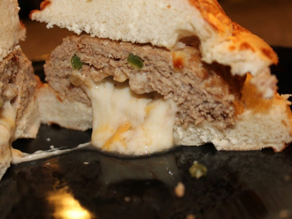 Cheesed Stuffed Burgers: 3ten.ca