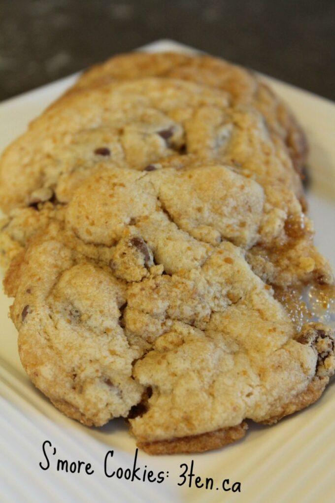 S'more Cookies: 3ten.ca #cookies #baking