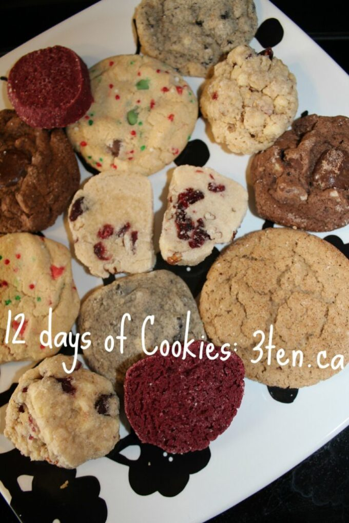 12 Days of Cookies: 3ten.ca #cookies #baking