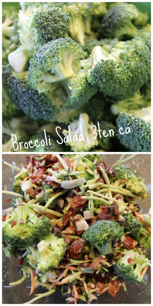 Broccoli Salad: 3ten.ca #salad #broccoli