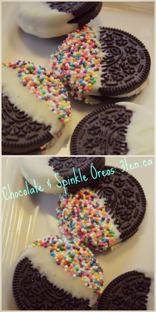 Chocolate and Sprinkle Oreos: 3ten.ca #oreo