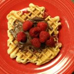 Raspberry Nutella Waffles: 3ten.ca #nutella #raspberry #breakfast