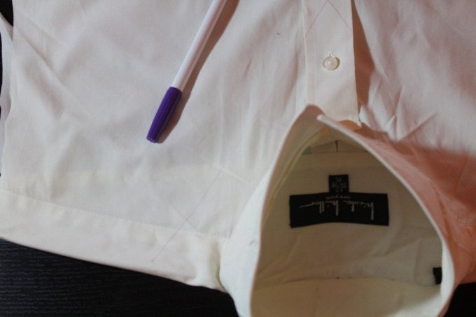 Mens dress shirt to Vest: 3ten.ca #upcycle #diy #sewing Refashion an oversized dress shirt into a fashion forward vest