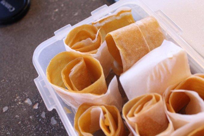 Mango Roll-up Snack: 3ten.ca #mango #snack #healthy