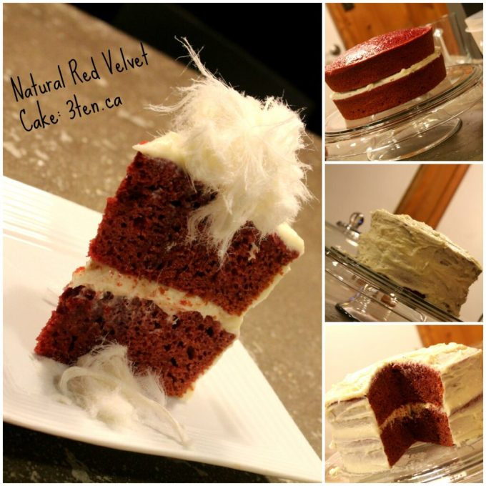 Natural Red Velvet Cake: 3ten.ca #cake #redvelvet #baking
