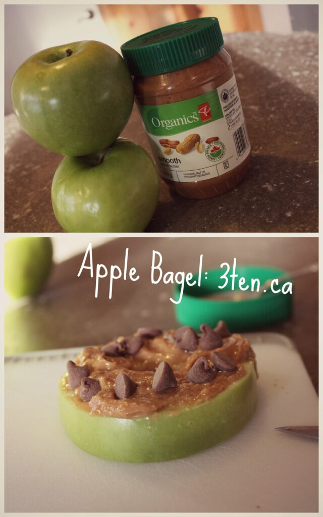 Apple Bagel: 3ten.ca #breakfast #cleaneating