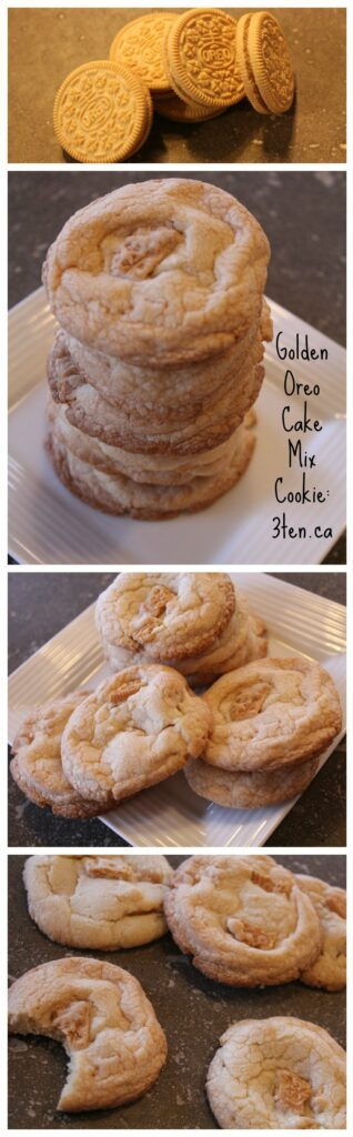 Golden Oreo Cake Mix Cookie: 3ten.ca #baking #cookie #oreo