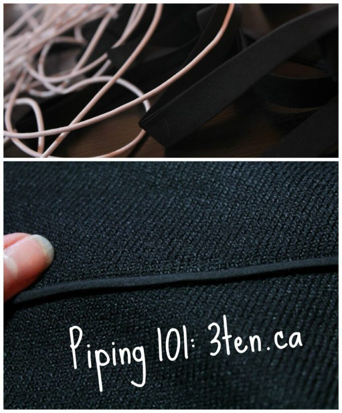 Piping 101: 3ten.ca #piping #sewing