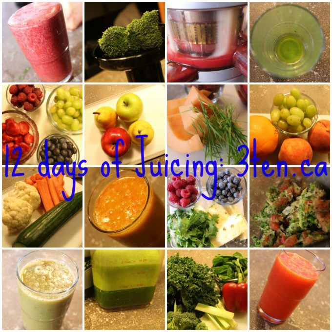 12 days of Juicing: 3ten.ca #juicing #juice #cleaneating