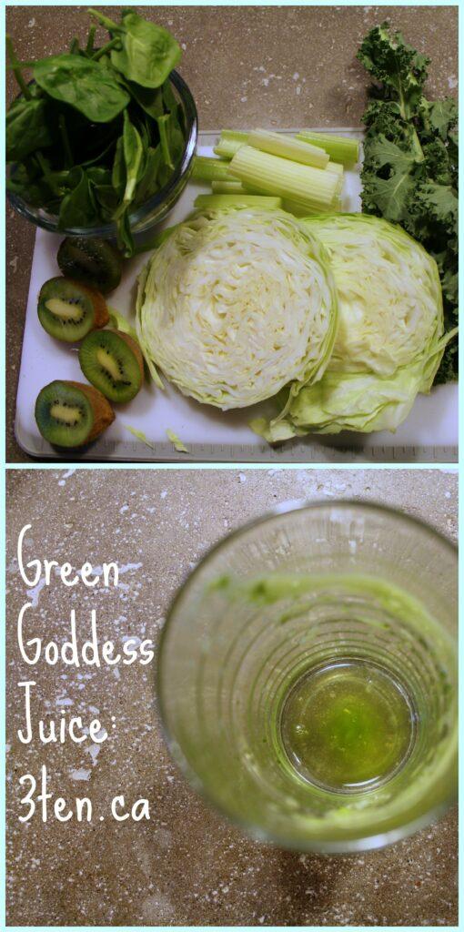Green Goddess Juice: 3ten.ca #juice #12daysofjuice #kale #kiwi