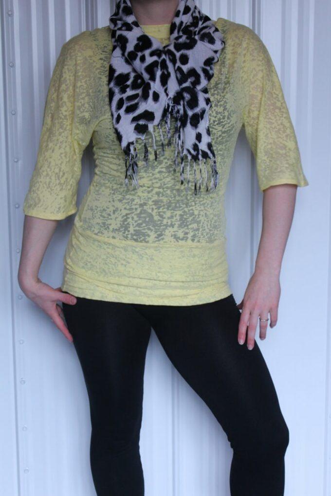 Sewing: Yellow Top: 3ten.ca #sewing #diy #fashion