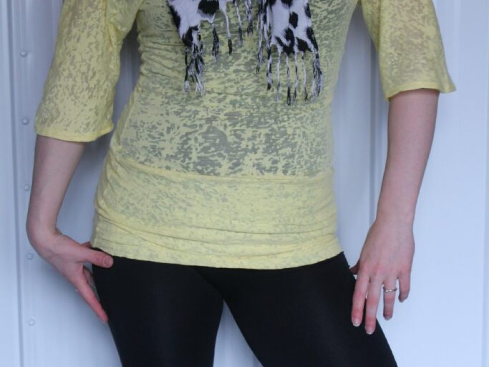 Yellow Scrunched Top: 3ten.ca