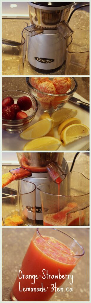 Orange Strawberry Lemonade: 3ten.ca #juice #lemonade #12daysofjuice