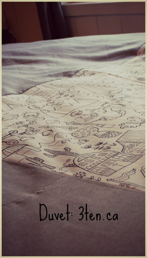 Duvet Tutorial: 3ten.ca #sewing #diy #decor