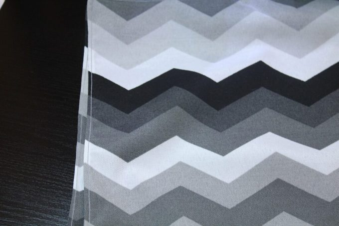 Chevron Outdoor Placemats: 3ten.ca #sewing #diy
