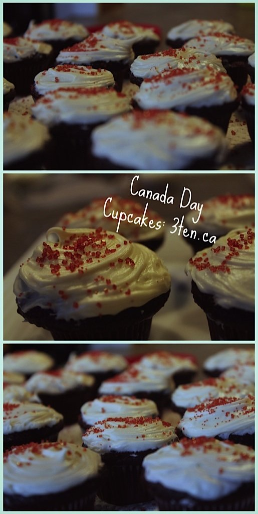 Canada Day Cupcakes: 3ten.ca #canadaday #cupcakes