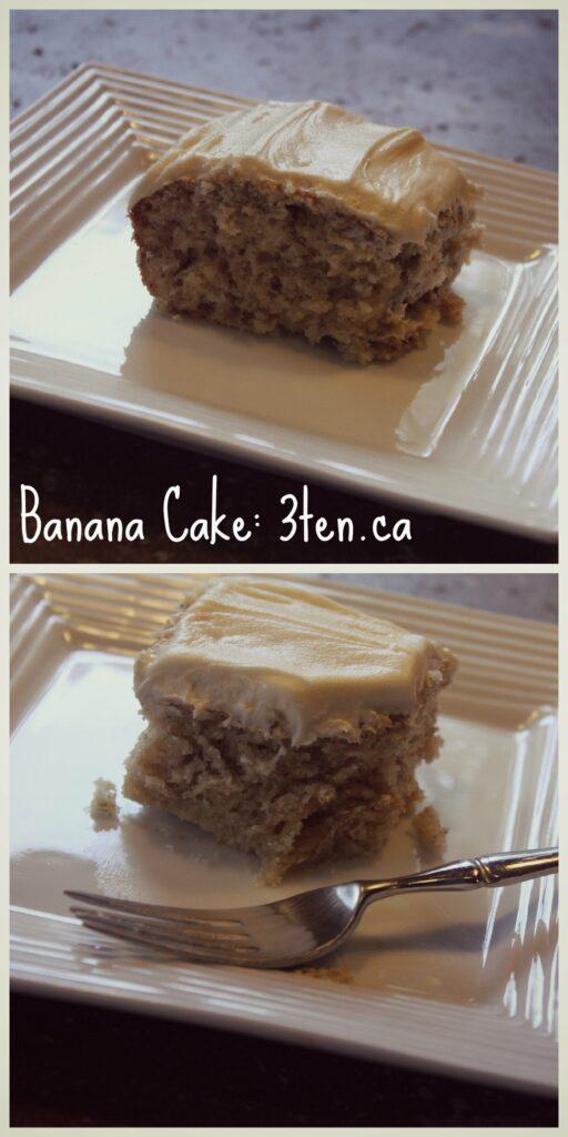 Banana Cake: 3ten.ca #cake
