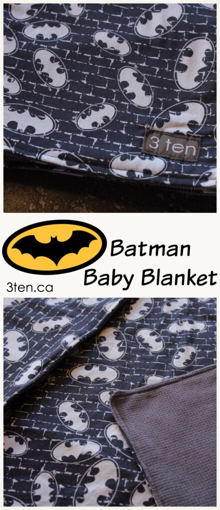 Batman Baby Blanket: 3ten.ca #sewing