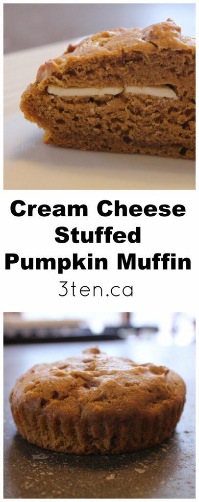 Cream Cheese Stuffed Pumpkin Muffin: 3ten.ca