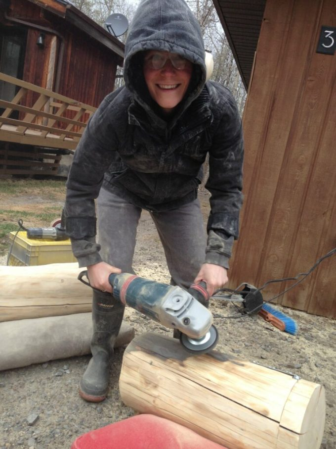 DIY West Elm Tree Stump Side Table: 3ten.ca