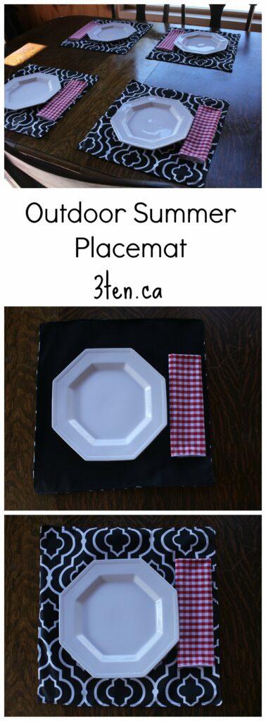 Outdoor Summer Placemat: 3ten.ca