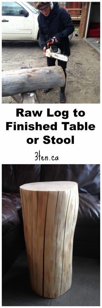 Raw Log to Stool: 3ten.ca