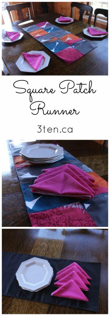 Square Patch Runner: 3ten.ca