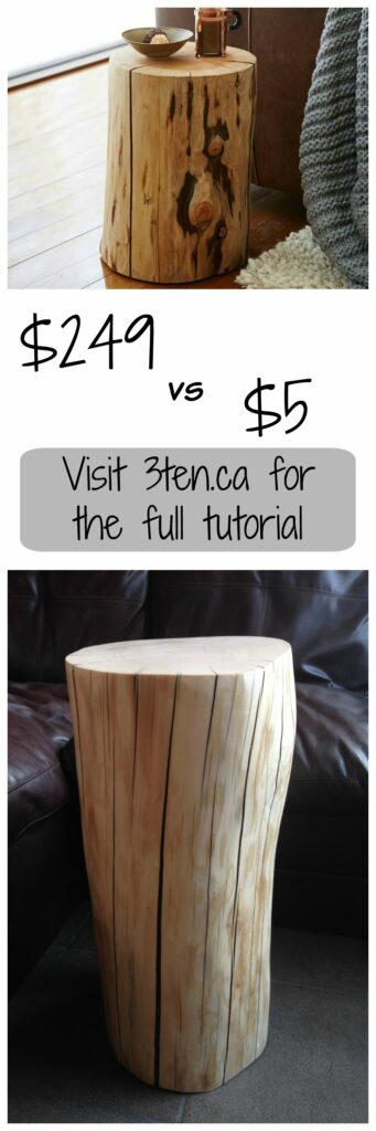 Diy West Elm Tree Stump Side Table 3ten A Lifestyle Blog