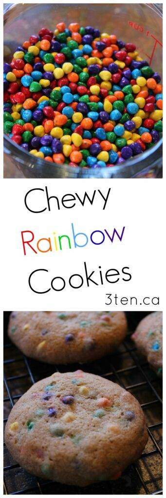 Chewy Rainbow Cookies: 3ten.ca