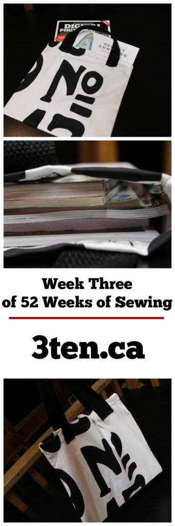 Sewing Week Three Magazine Bag: 3ten.ca