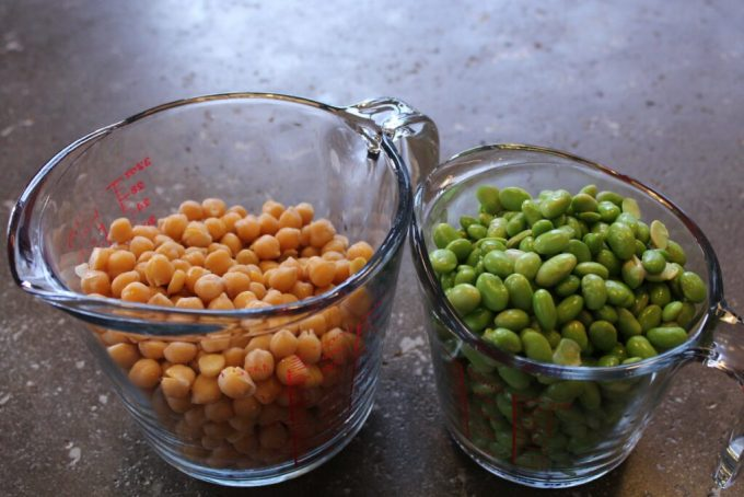 Salt and Pepper Roasted Edamame and Chickpeas: 3ten.ca