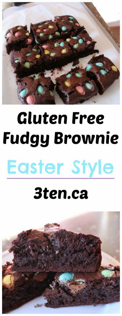 Gluten Free Fudgy Brownie Easter Style: 3ten.ca