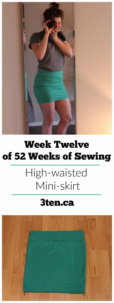 High-waisted Mini-skirt: 3ten.ca