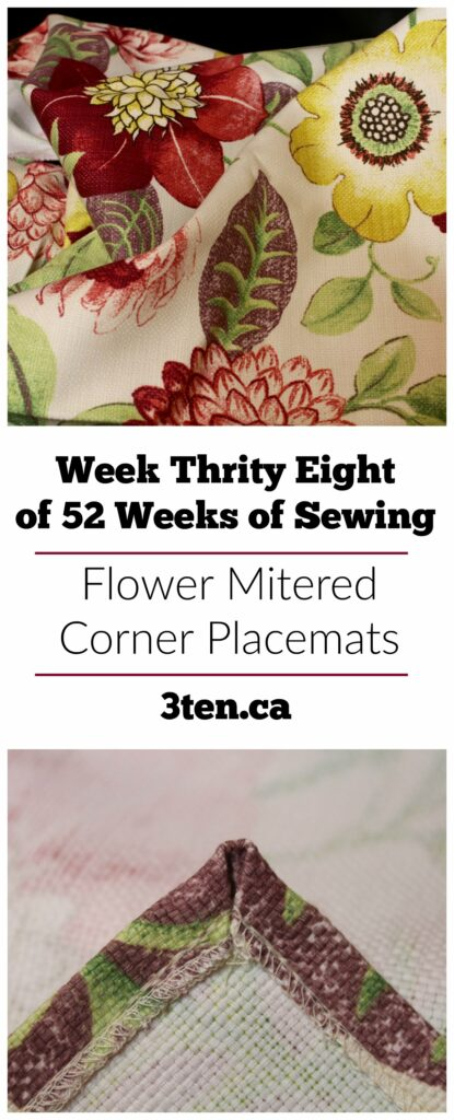 Flower Mitered Corner Placemats: 3ten.ca